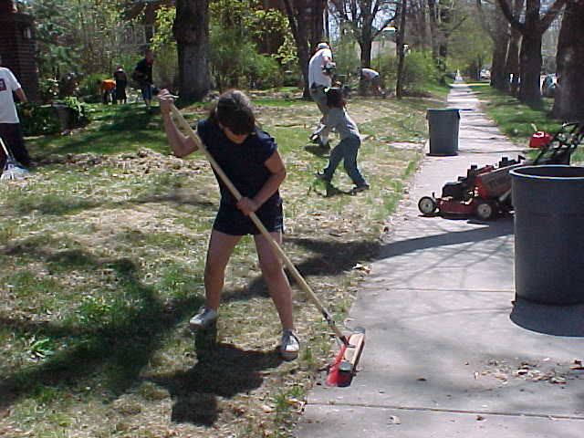 Children's Justice Center Spring Clean-Up 2002